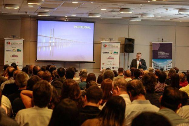 Guilherme Grossman, diretor da Consultan, imobiliária carioca que migrou para Lisboa há 30 anos, apresenta oportunidades de investimento em Portugal para empresários em Recife (PE)