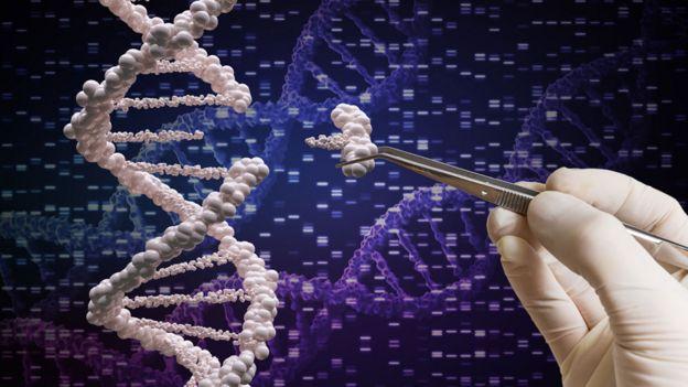 Ilustración de modificación de ADN