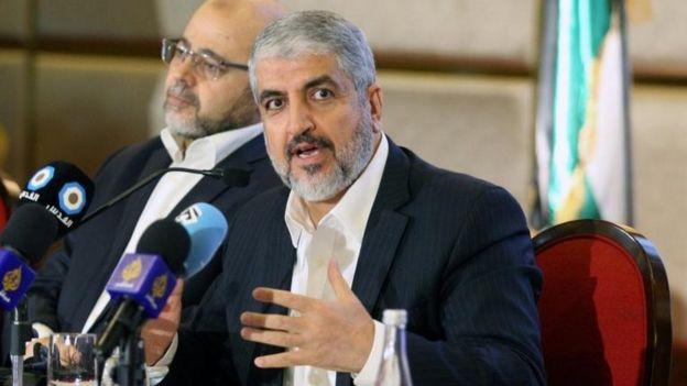 Líder de Hamás Khaled Meshaal.