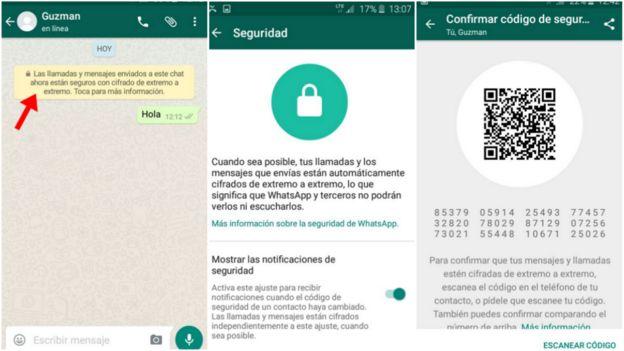 Los mensajes y llamadas entre contactos de Whats App están cifrados de extremo a extremo