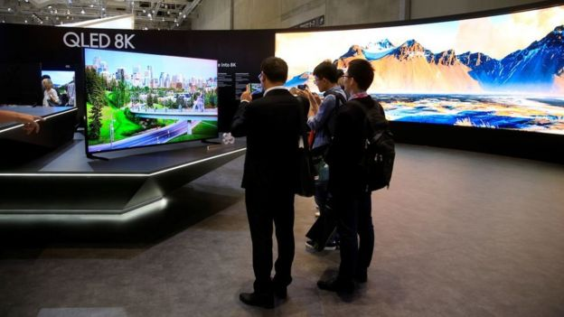 Supporters of the Samsung stand at IFA Berlin