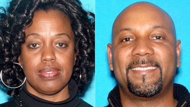The suspect shot and killed his estranged wife, a teacher, and wounded two children