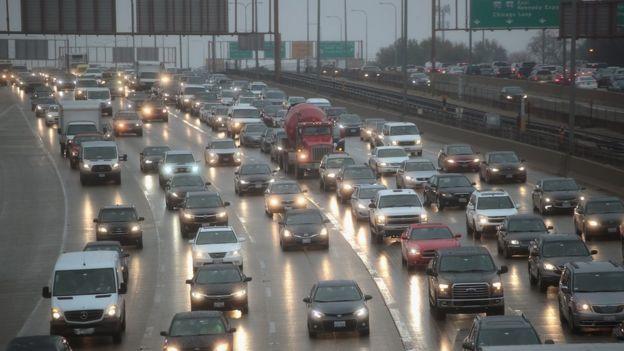 Congestión de tráfico en Chicago, Estados Unidos
