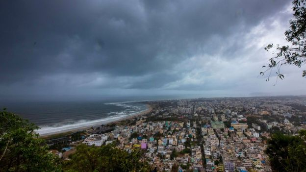 Clouds loom ahead of cyclone Fani in Visakhapatnam, India, May 1, 2019