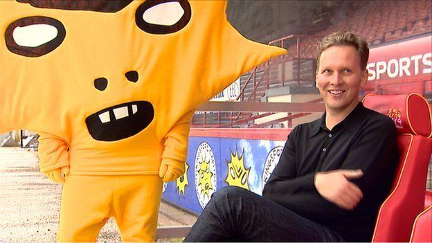 David Shrigley has designed the mascot and team logo