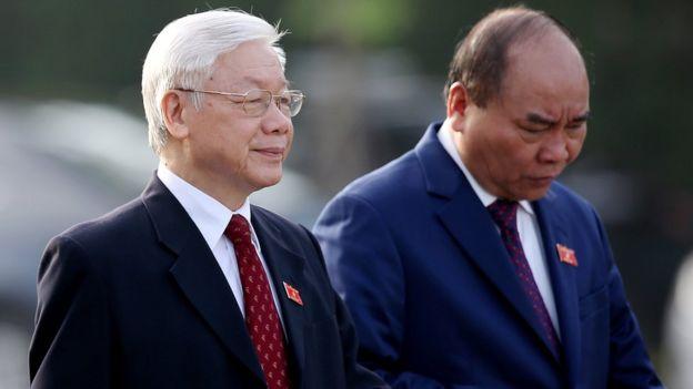 Tổng Bí thư - Chủ tịch nước Nguyễn Phú Trọng và Thủ tướng Nguyễn Xuân Phúc (ảnh chụp ngày 22/10/2018)