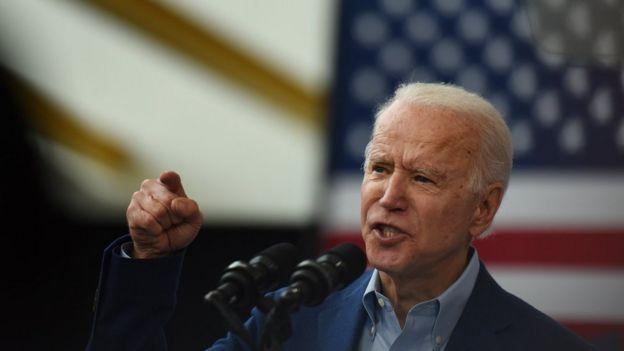 Joe Biden en un evento de la campaña en marzo.