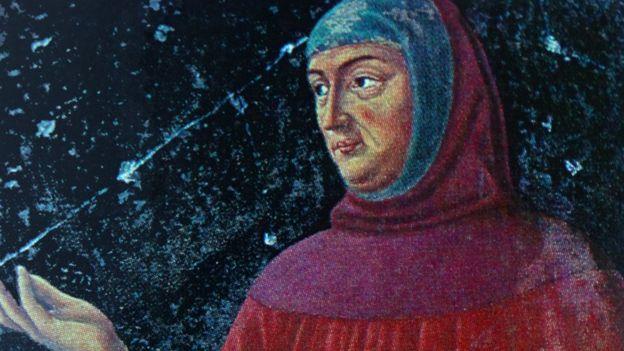 Retrato del siglo XIV de Giovanni Boccaccio (1313-1375)