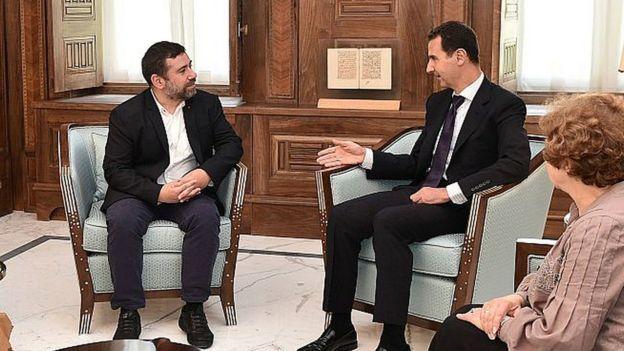 Хавьер Коусо, Башар Асад