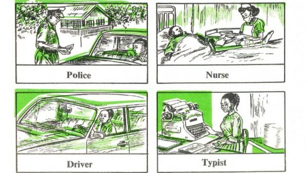 Textbook showing gender stereotypes in Nigeria