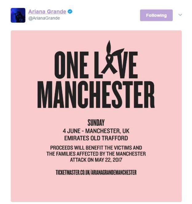 Tuit de Ariana Grande