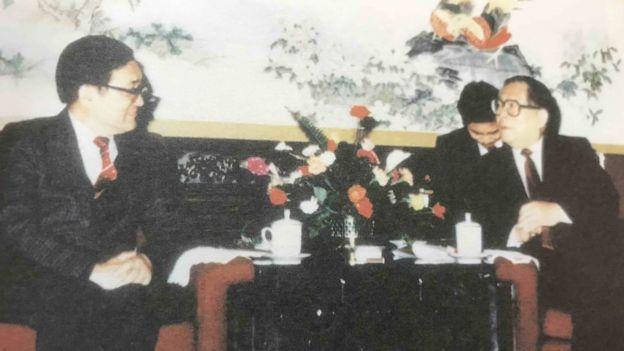 沈君山曾與中國大陸總書記有三次非官方會談。