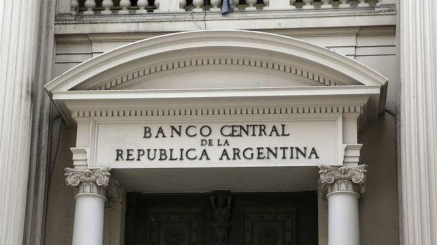 Fachada del Banco Central argentino.