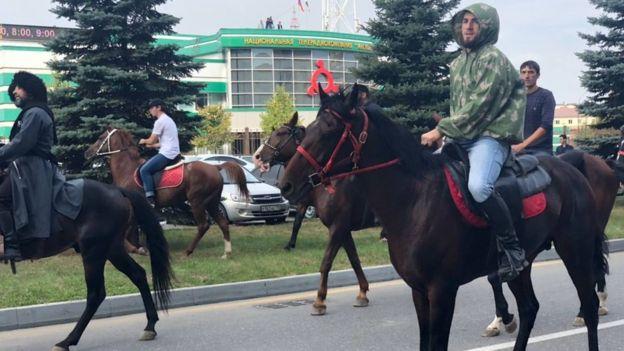 ингуши на лошадях