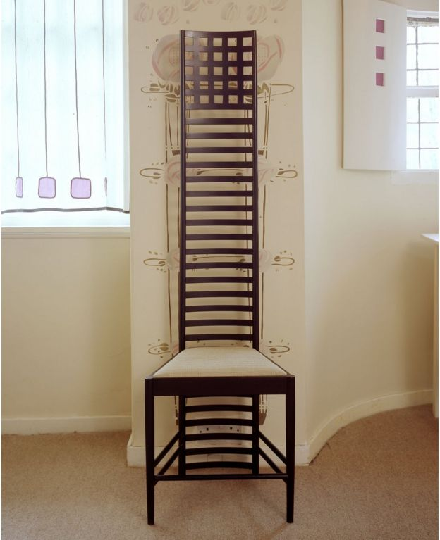 Mackintosh's famous high-backed chairs are part of the Hill House collection