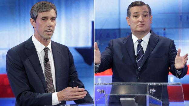 Beto O'Rourke (izquierda) y Ted Cruz se disputan un puesto en el Senado