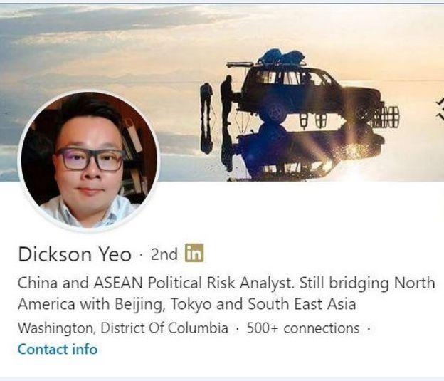 Isithonjana sephrofayili kaDickson Yeo esisusiwe manje se-LinkedIn