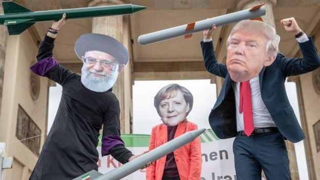 متظاهرون في برلين ضد التصعيد الأمريكي الإيراني