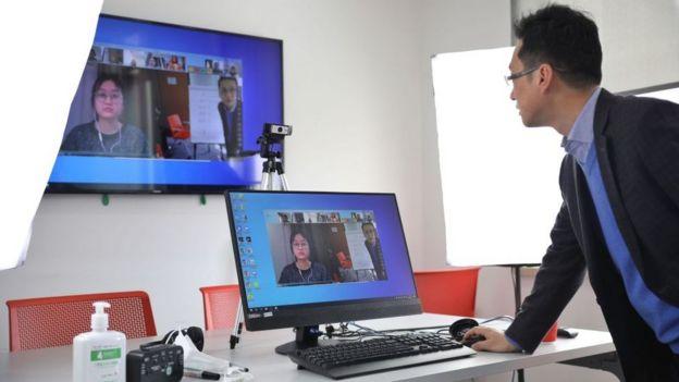 Serviço de teleconferência na China