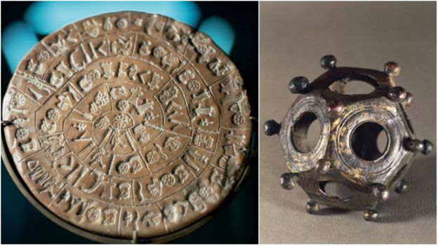 O disco de Festos e o dodecaedro romano