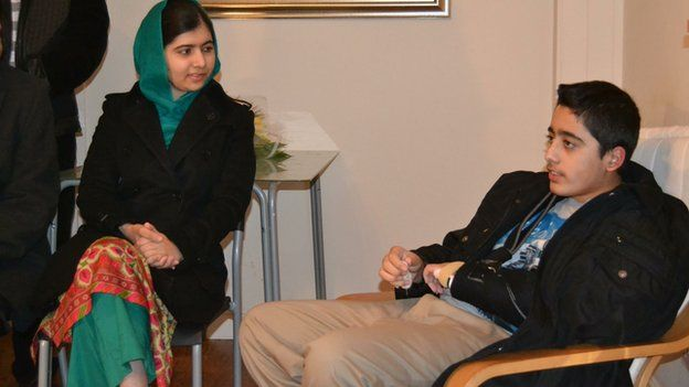 Malala visited Ahmad to offer her support to him and his family