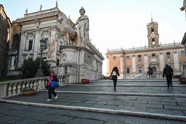 Лестница на Капитолийский холм в Риме