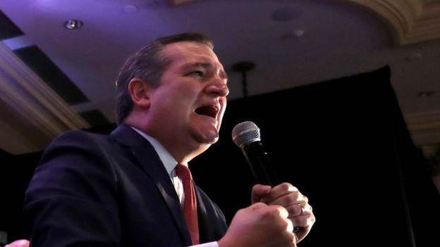El senador republicano Ted Cruz agradece a sus partidarios tras conocer su victoria en Texas