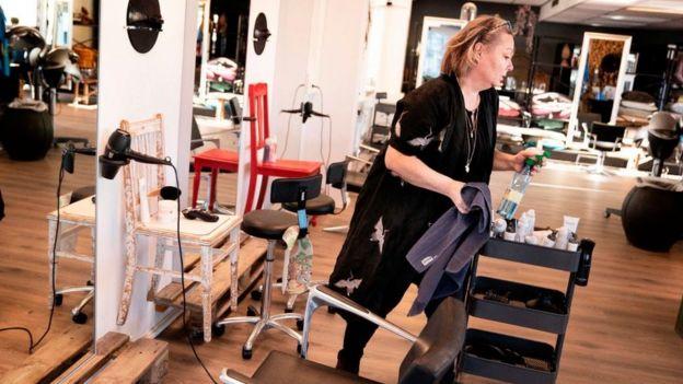 В одной из парикмахерских Копенгагена