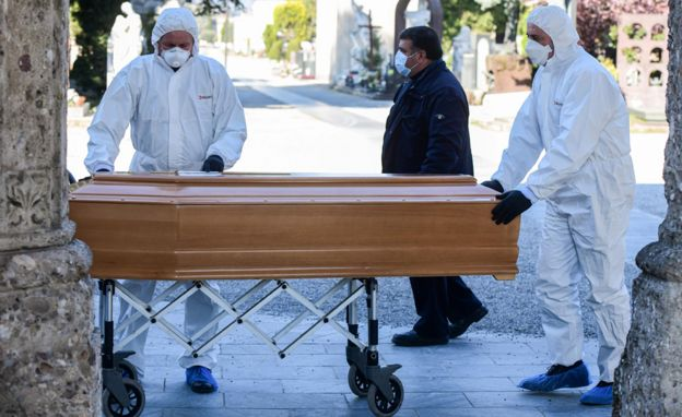 مراسم خاکسپاری جانباختگان ویروس کرونا در ایتالیا کوتاه و سریع برگزار میشود