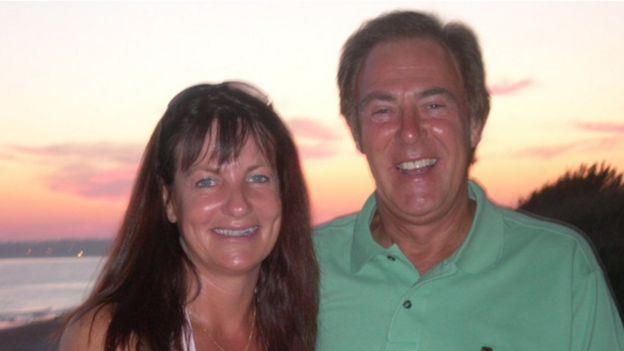 Teresa Colvin with her husband Roger
