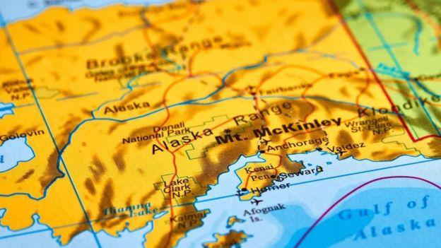 Mapa de Alaska