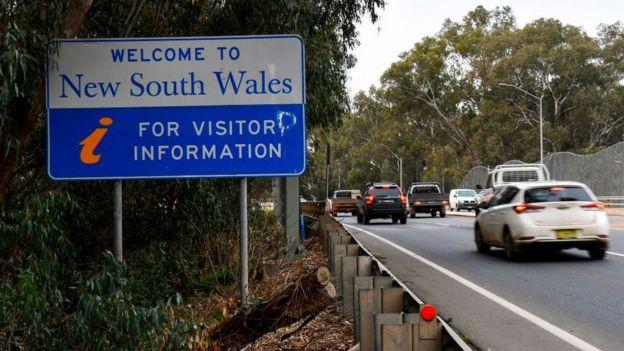 Carretera a Nueva Gales del Sur.