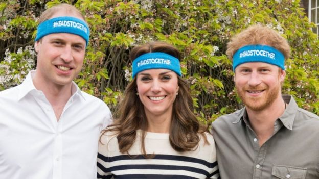 The Duke and Duchess of Cambridge and the Duke of Sussex