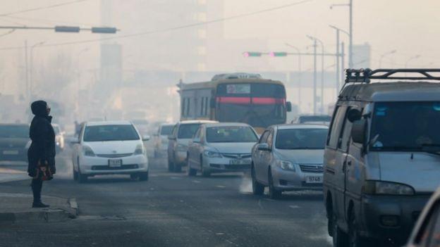 Contaminacion en Ulan Bator
