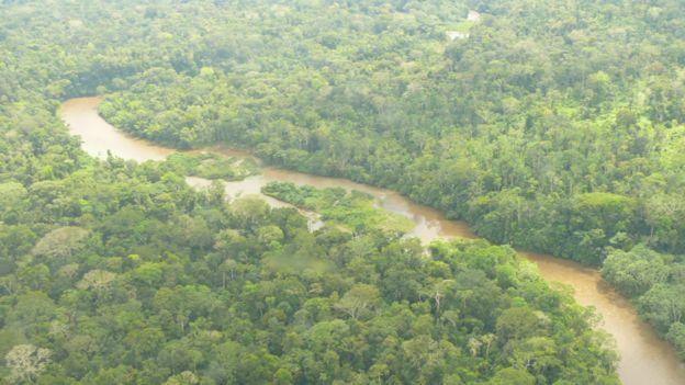VIsta aérea de la Amazonía ecuatoriana