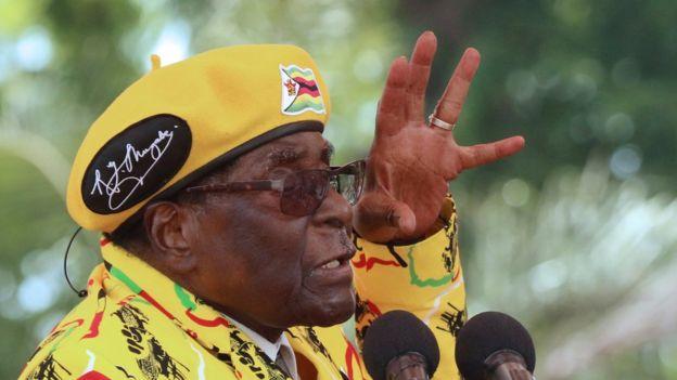 O presidente do Zimbabue, Robert Mugabe