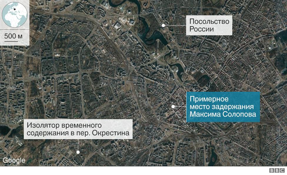 Изолятор на Окрестина. Карта