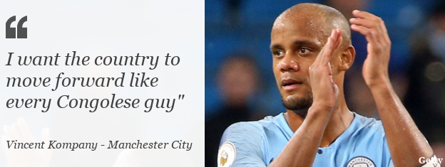 Vincent Kompany: I want the country to move forward like every Congolese guy