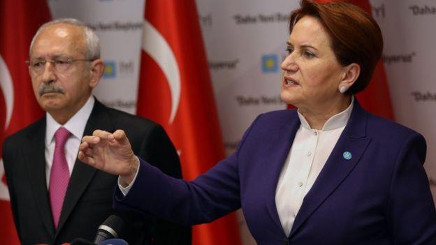 İYİ Parti lideri Akşener ve Kemal Kılıçdaroğlu