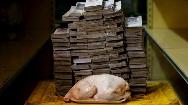 Hiperinflación en Venezuela.