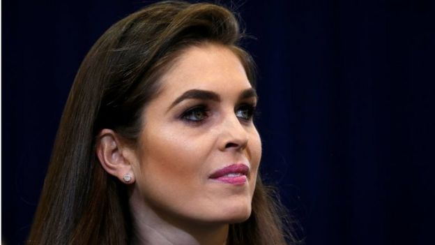 Republican presidential nominee Donald Trump s press secretary Hope Hicks  is pictured during a campaign event in. Trump s cabinet  The people around the president   BBC News