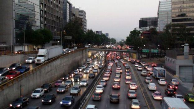 Tráfico en Ciudad de México.