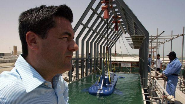 Fotografia de Hervé Jaubert em Dubái, em 2006