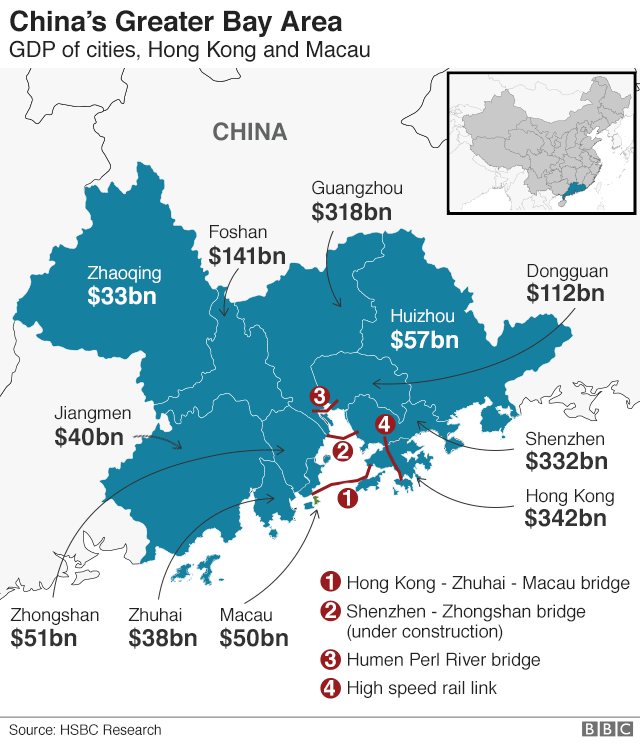Greater Bay Area China S Ambitious But Vague Economic Plan Bbc News