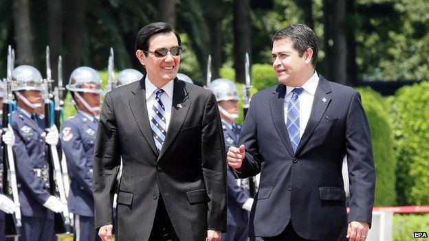 Honduran President Juan Orlando Hernandez visits Taiwan
