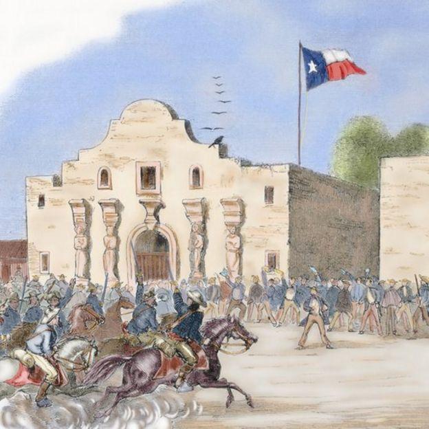 Ilustración de la batalla del Alamo