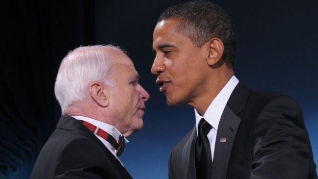 ماكين وأوباما