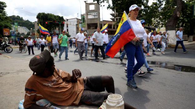 Marcha en Venezuela.