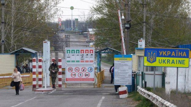 Блокпост в селе Первомайск