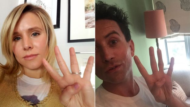 Kristen Bell and Nick Grimshaw